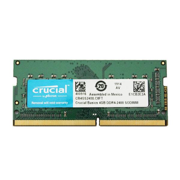 رم لپ تاپ DDR4 تک کاناله  2400 مگاهرتز CL11  کروشیال مدل  SODIMM ظرفیت 4 گیگابایت