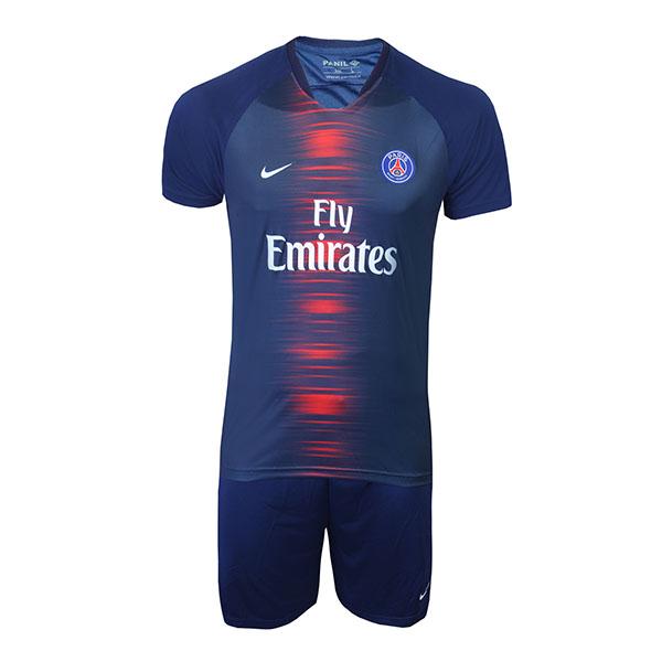 پیراهن و شورت ورزشی پانیل طرح تیم پاریس کد 30067