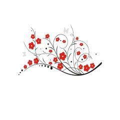 استیکر دیواری والتت طرح موج گل