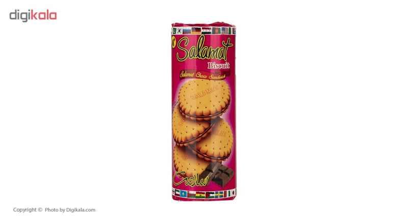 بیسکویت کرم دار کاکائویی سلامت مقدار 400 گرم thumb 1