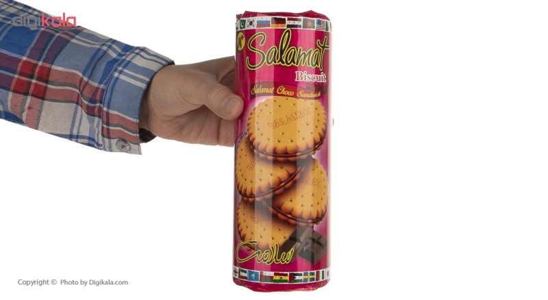 بیسکویت کرم دار کاکائویی سلامت مقدار 400 گرم thumb 4