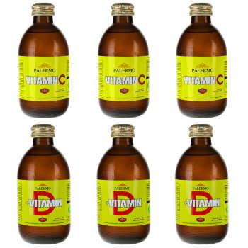 نوشیدنی گازدار پالرمو حجم 240 میلی لیتر  بسته 6 عددی