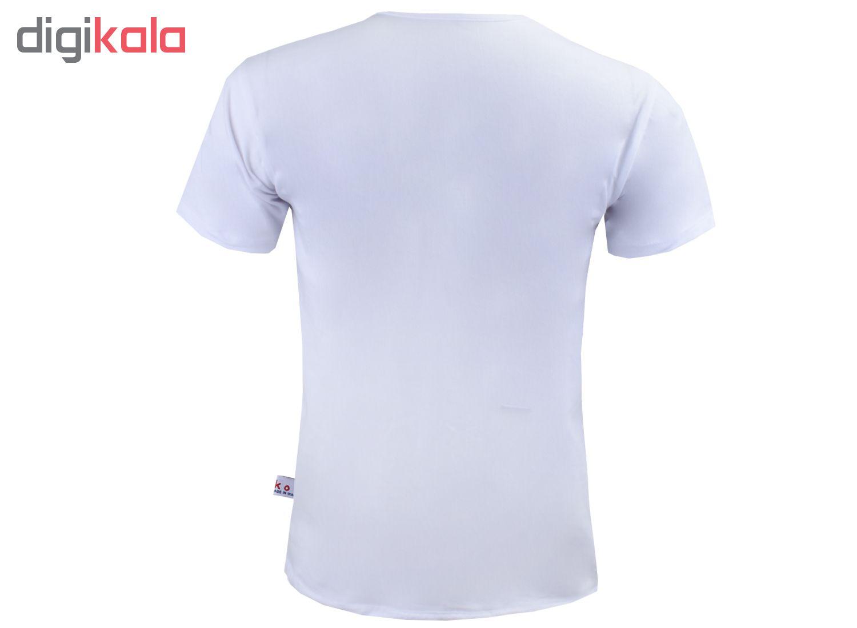 تیشرت آستین کوتاه مردانه آکو طرح شیر کد AS28