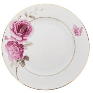بشقاب چینی زرین ایران مدل ایتالیا اف طرح Rose Flower مجموعه 6 عددی