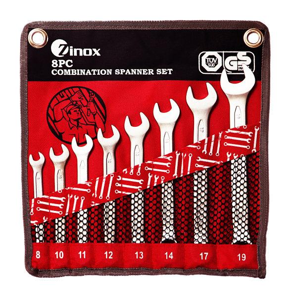 مجموعه 8 عددی آچار یک سر تخت یک سر رینگی زینوکس کد ZX8C