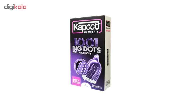 کاندوم کاپوت مدل BIG DOTS بسته 10 عددی thumb 1
