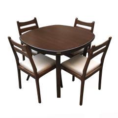 میز و صندلی ناهار خوری اسپرسان چوب مدل Sm38