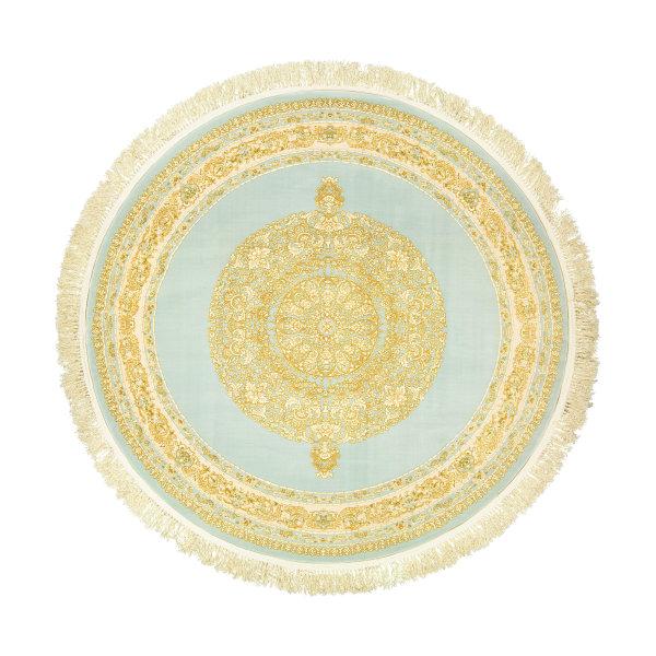 فرش ماشینی عرش طرح کسری کد R زمینه آبی