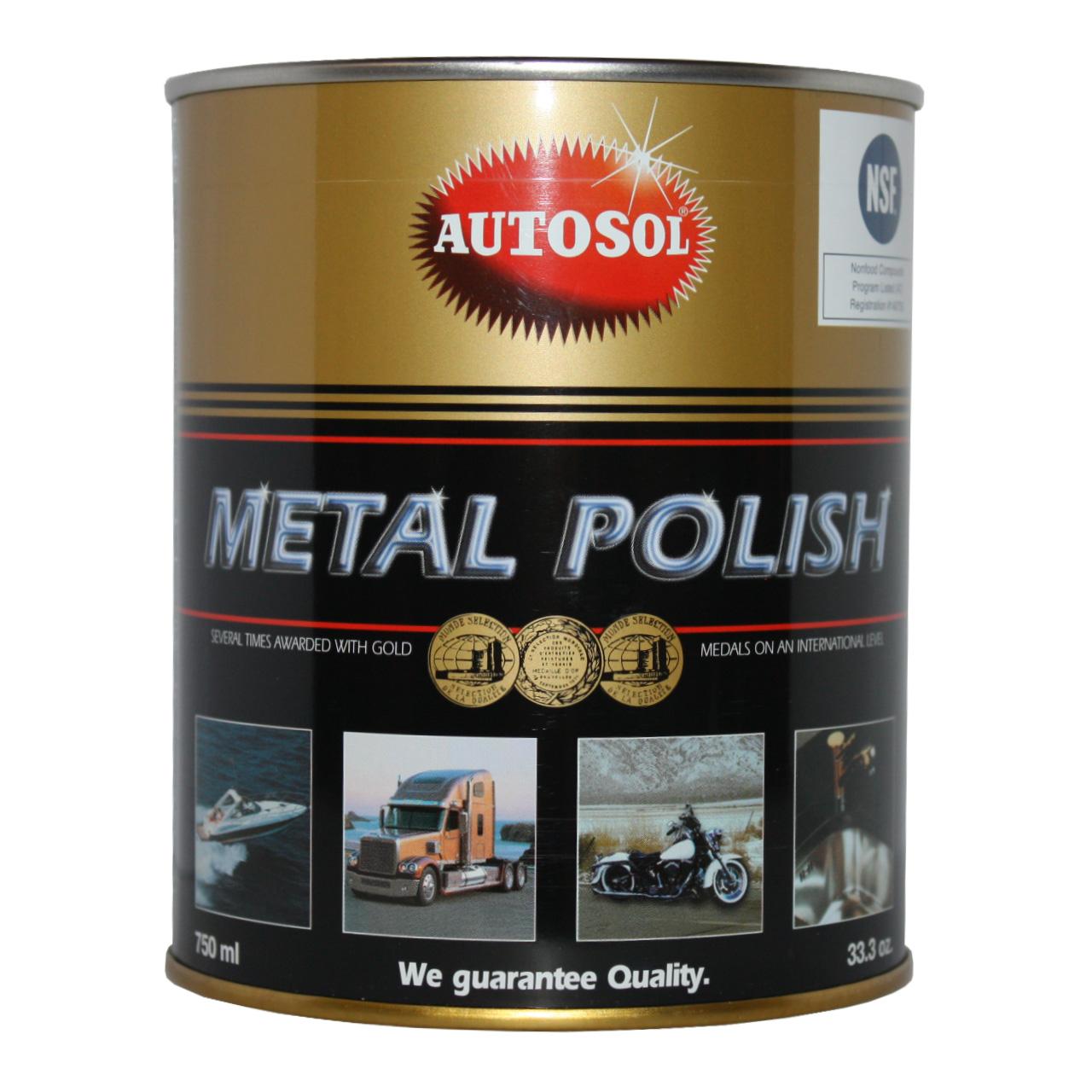خمیر پولیش سطوح فلزات اتوسل مدل Metal Polish حجم 750میلی لیتر