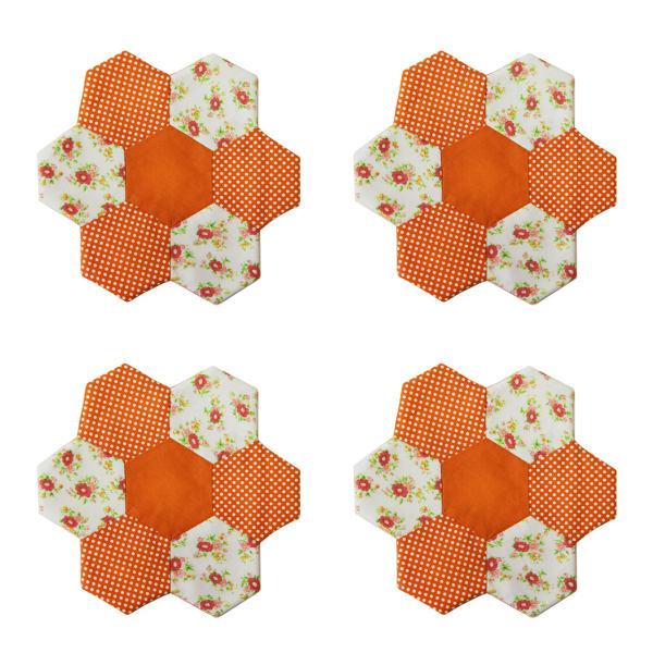 زیر بشقابی مینا عابد طرح باغچه نارنج بسته 4 عددی