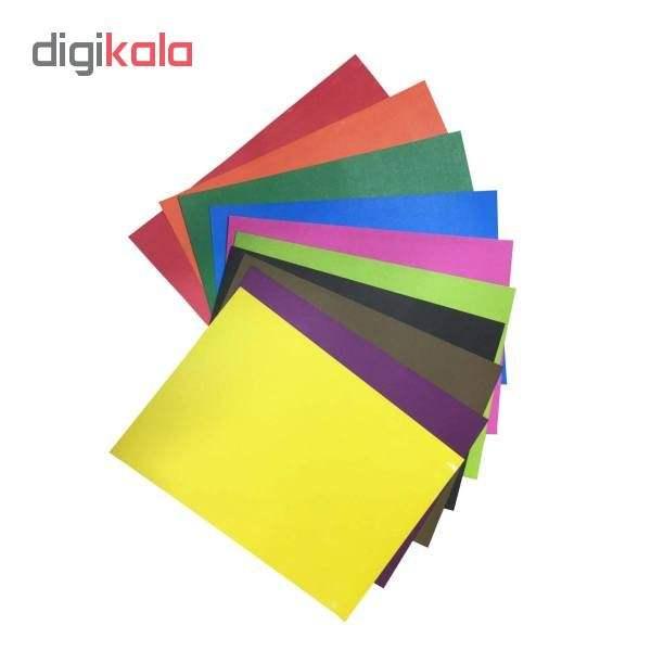مقوا رنگی سایز ۳۴×۲۴ بسته ۲۰ عددی (۱۰ رنگ از هر کدام ۲ عدد) main 1 2