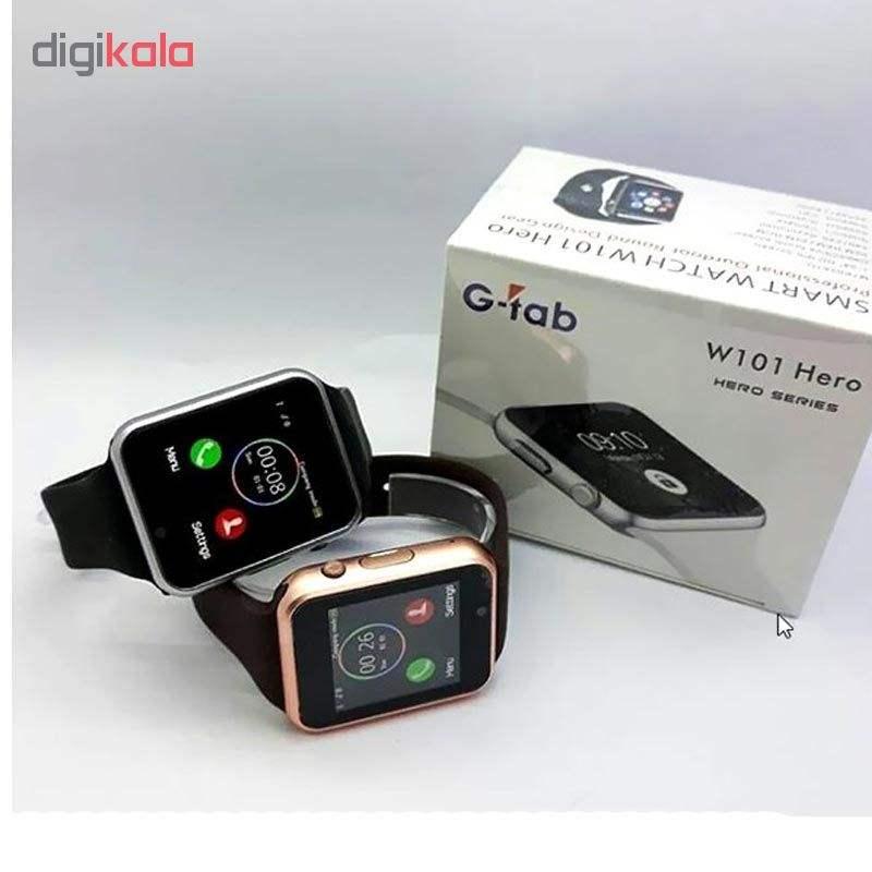 ساعت هوشمند جی تب مدل W101 کد 10500013 main 1 2