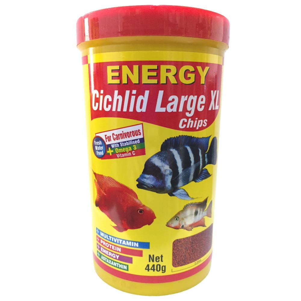 غذا ماهی انرژی مدل Cichilid Larg XL chips وزن 440 گرم