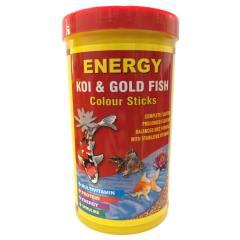 غذا ماهی انرژی مدل KOI & Gold fisf Colour sticks حجم 1000 میلی لیتر