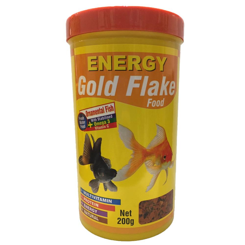 غذا ماهی انرژی مدل Gold Flake food وزن 200 گرم