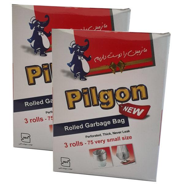 کیسه زباله پیلگون مدل VS2 بسته 75 عددی مجموعه 2 عددی