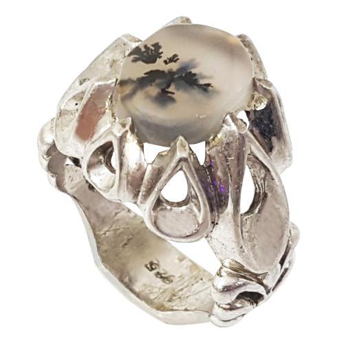 انگشتر نقره مردانه گالری احد کد 10006