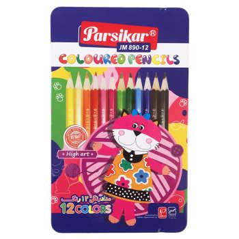 مداد رنگی 12 رنگ پارسی کار مدل JM890-12 Cat