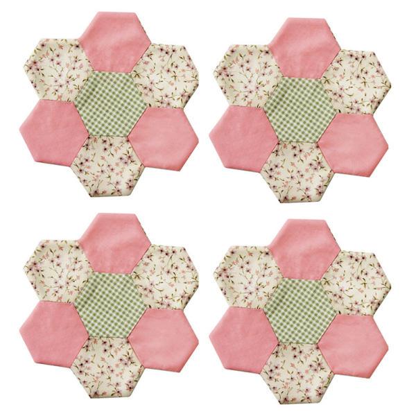 زیر بشقابی مینا عابد طرح باغچه شکوفه بسته 4 عددی