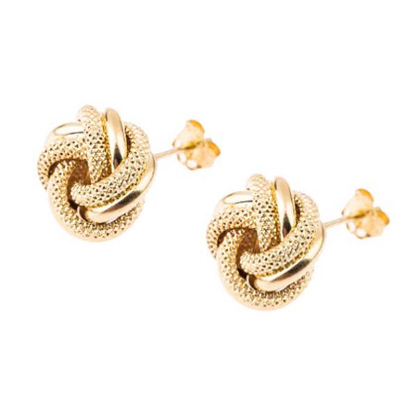 قیمت گوشواره طلا 18 عیار زنانه گالری گیرا مدل G1006