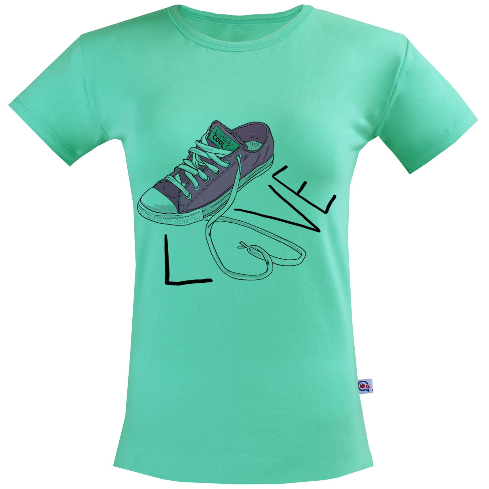 تی شرت زنانه آکو طرح کتونی کد SC84