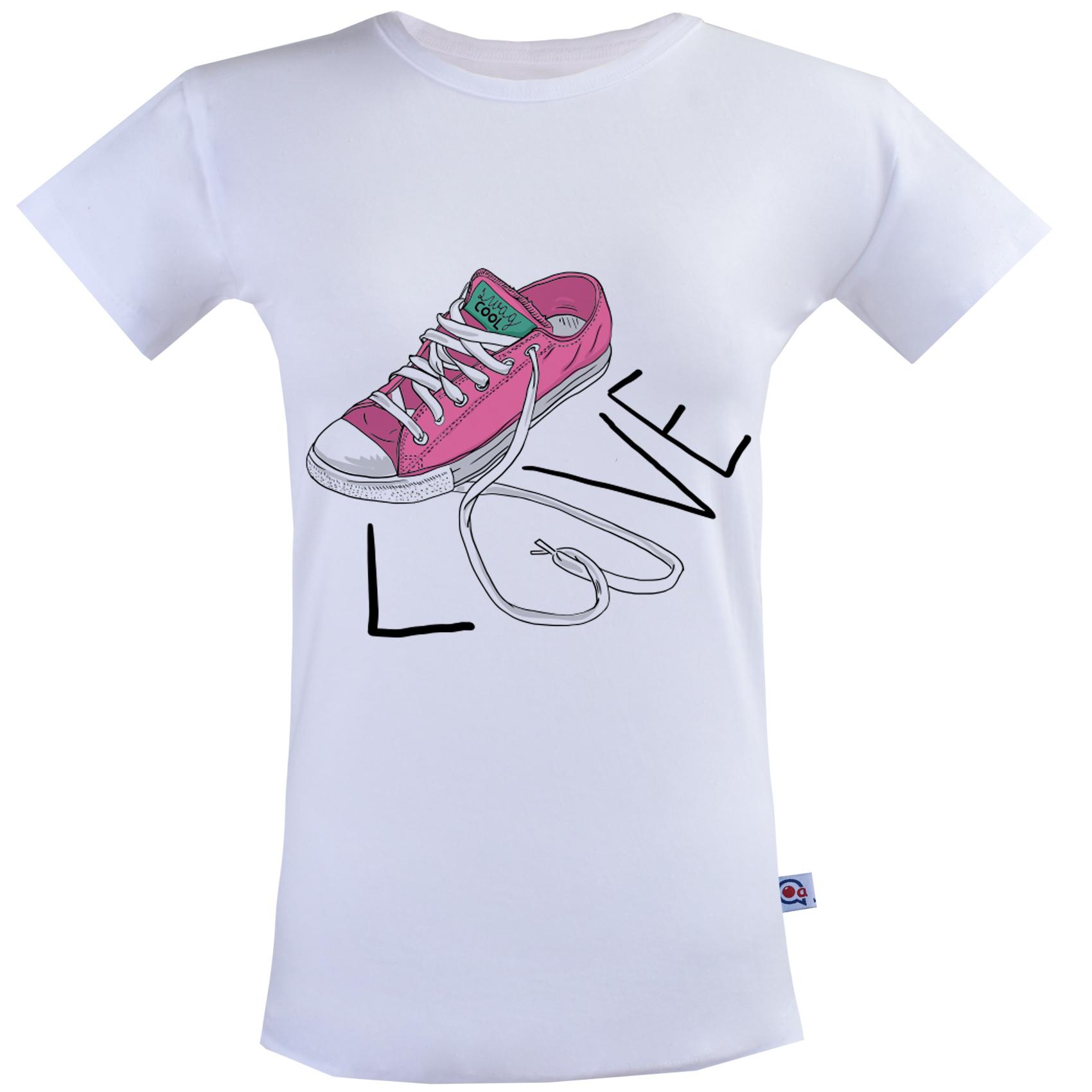 تی شرت زنانه آکو طرح کتونی کد SS84