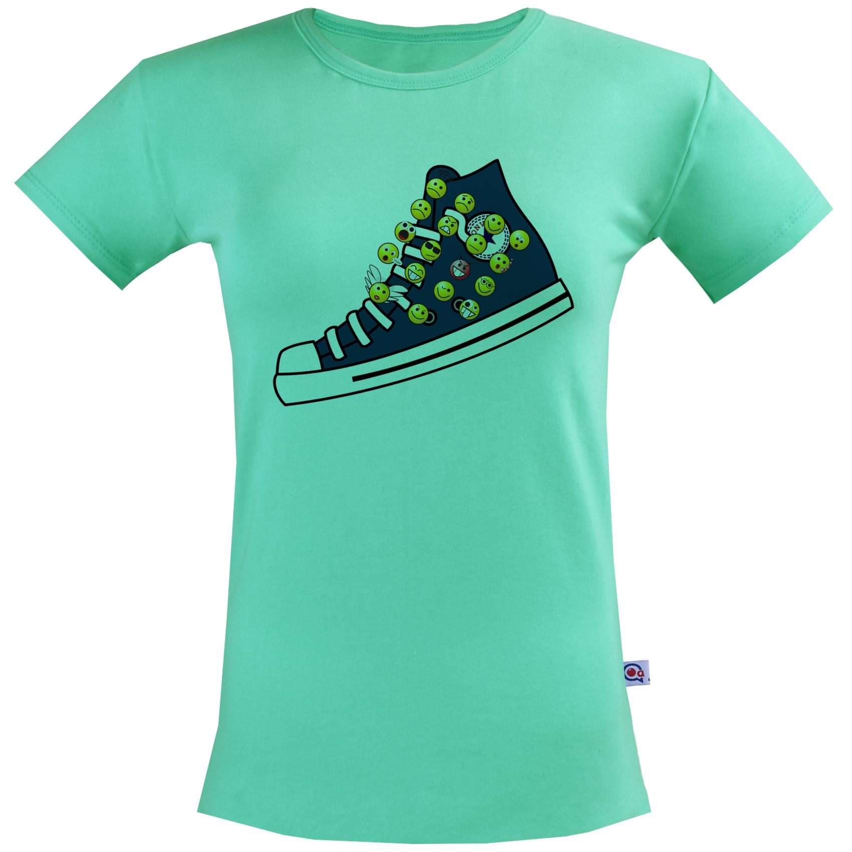 تی شرت زنانه آکو طرح کتونی کد BC87