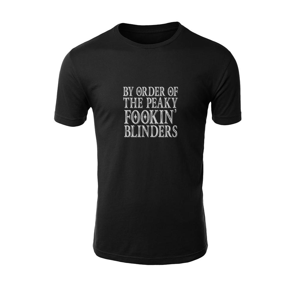 تیشرت مردانه طرح ORDER OF THE PEAKY FOOKIN BLINDERS رنگ مشکی