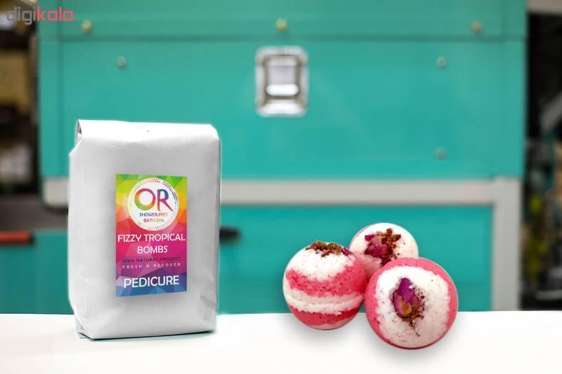 کوکتل نمک حمام اور مدل Rose & Milk وزن 300 گرم بسته 3 عددی