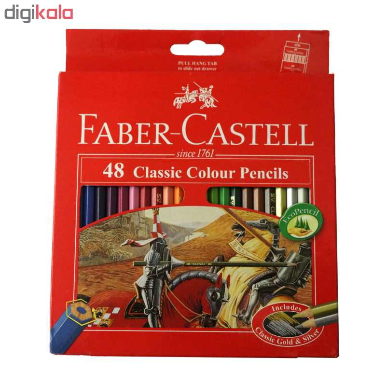 مداد رنگی 48 رنگ فابر-کاستل مدل Classic 858 main 1 1