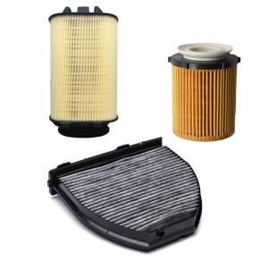 فیلتر روغن خودرو مرسدس بنز مدل W212 مناسب برای مرسدس بنز E250 به همراه فیلتر هوا و فیلتر کابین