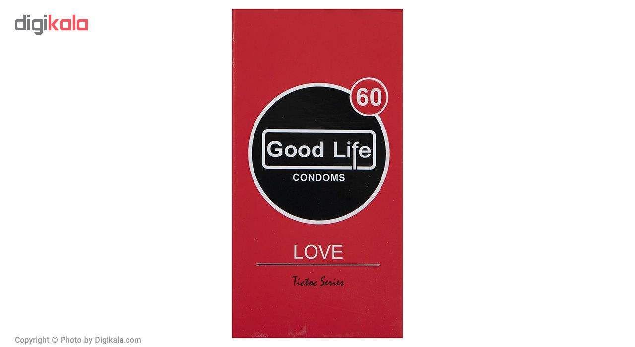 کاندوم گودلایف مدل Love بسته 12 عددی به همراه کاندوم مدل Heart-Eyes