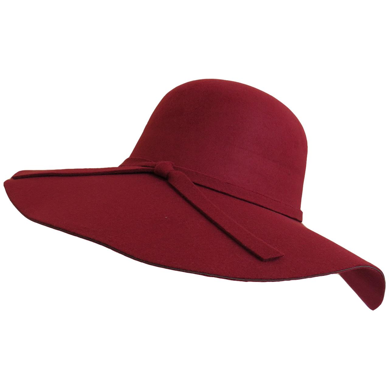 کلاه زنانه مدل شهرزاد کد 04 رنگ زرشکی