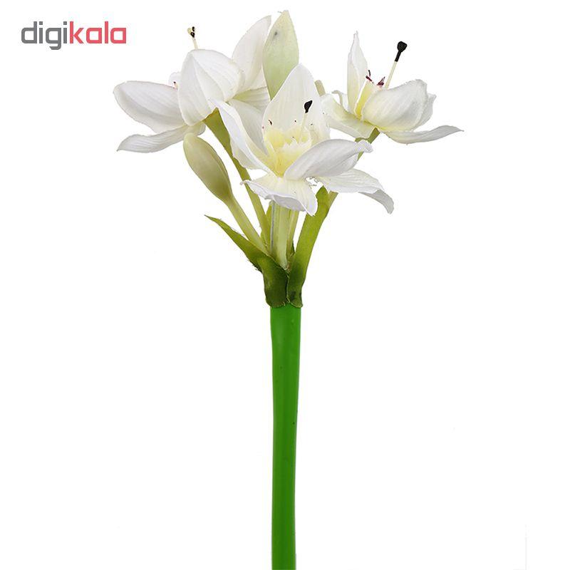 گل مصنوعی هومز طرح شاخه نرگس کد 10104 بسته 3 عددی