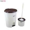 ست سطل زباله و فرچه پلاستیک سلمان مدل گلبرگ 280 thumb 2