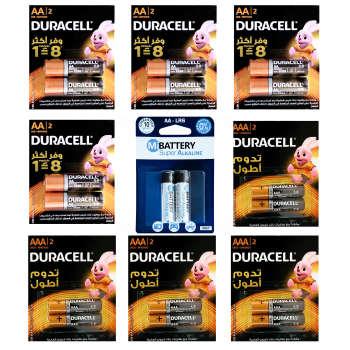 باتری قلمی و نیم قلمی دوراسل مدل Duralock بسته 16 عددی به همراه باتری قلمی می مدل LR6