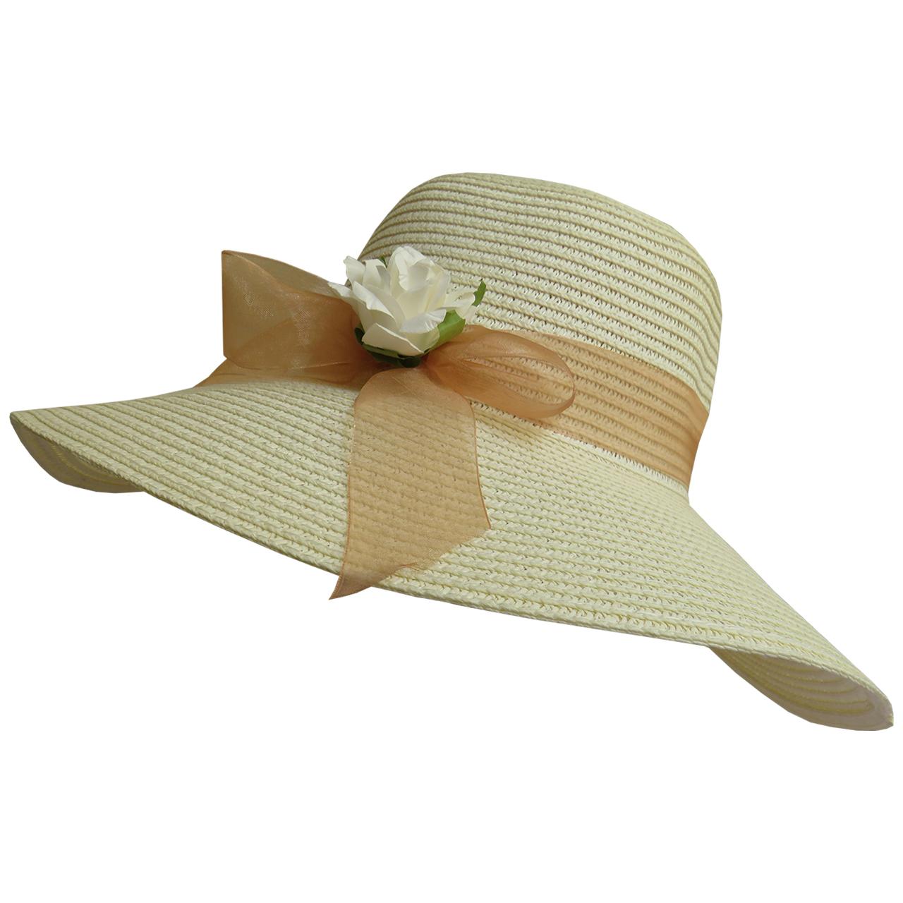قیمت کلاه زنانه حصیری مدل شهرزاد کد 01