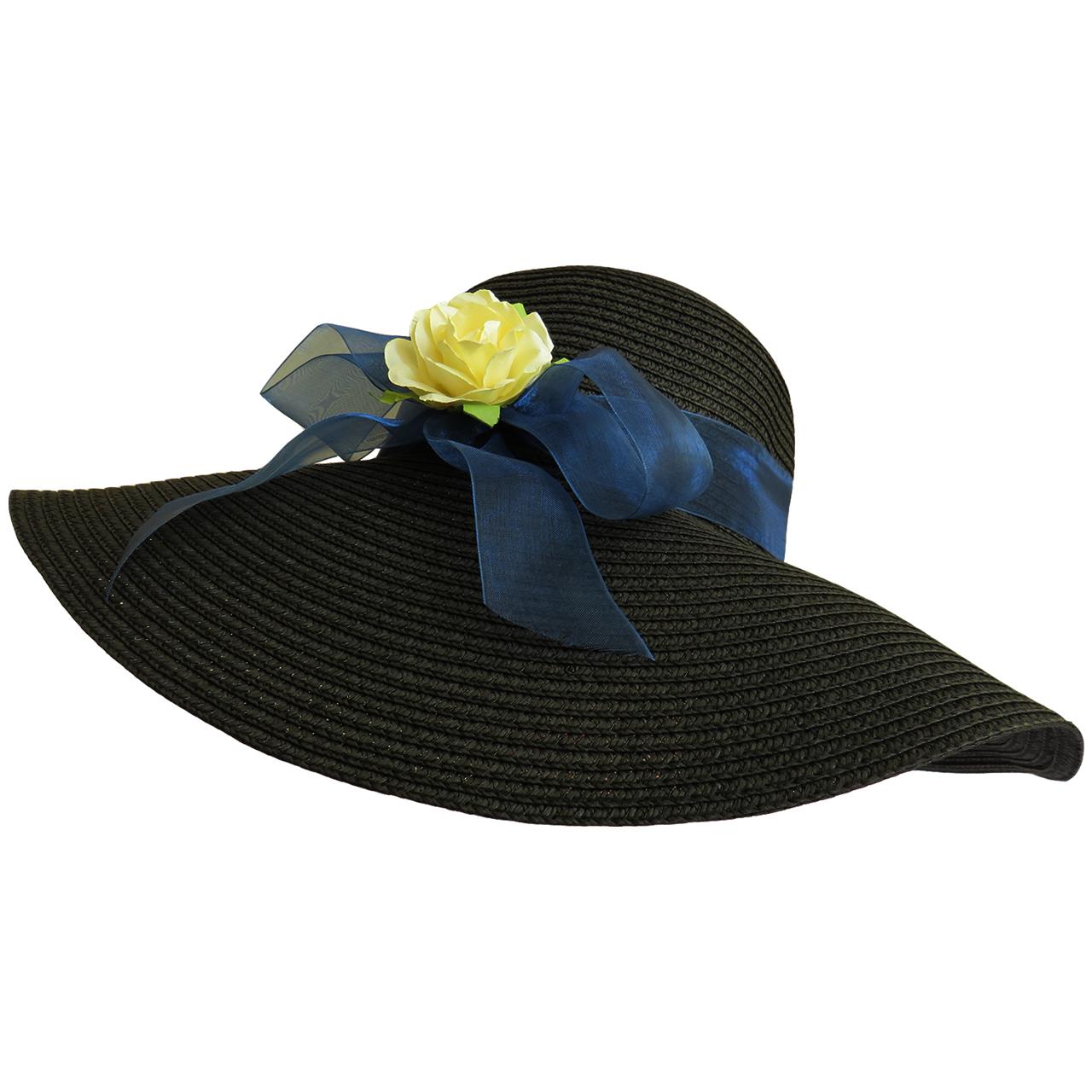 کلاه زنانه حصیری مدل شهرزاد کد 03