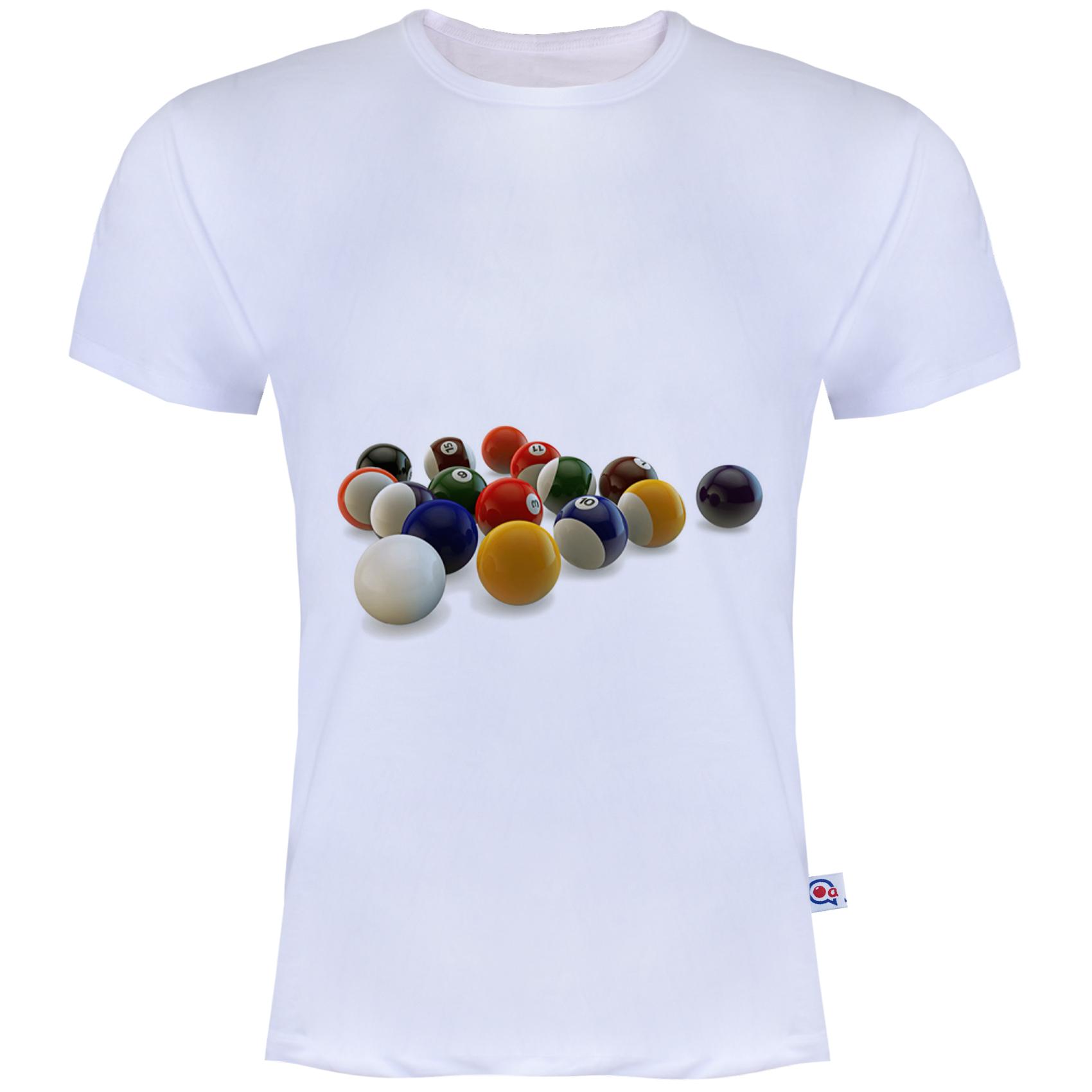 تی شرت آستین کوتاه مردانه آکو طرح pool کد Ns041