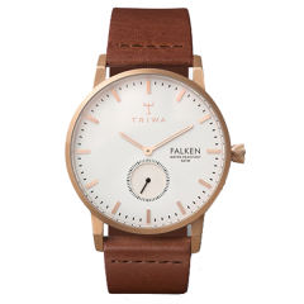 ساعت مچی عقربه ای تریوا مدل Rose Falken brown 32