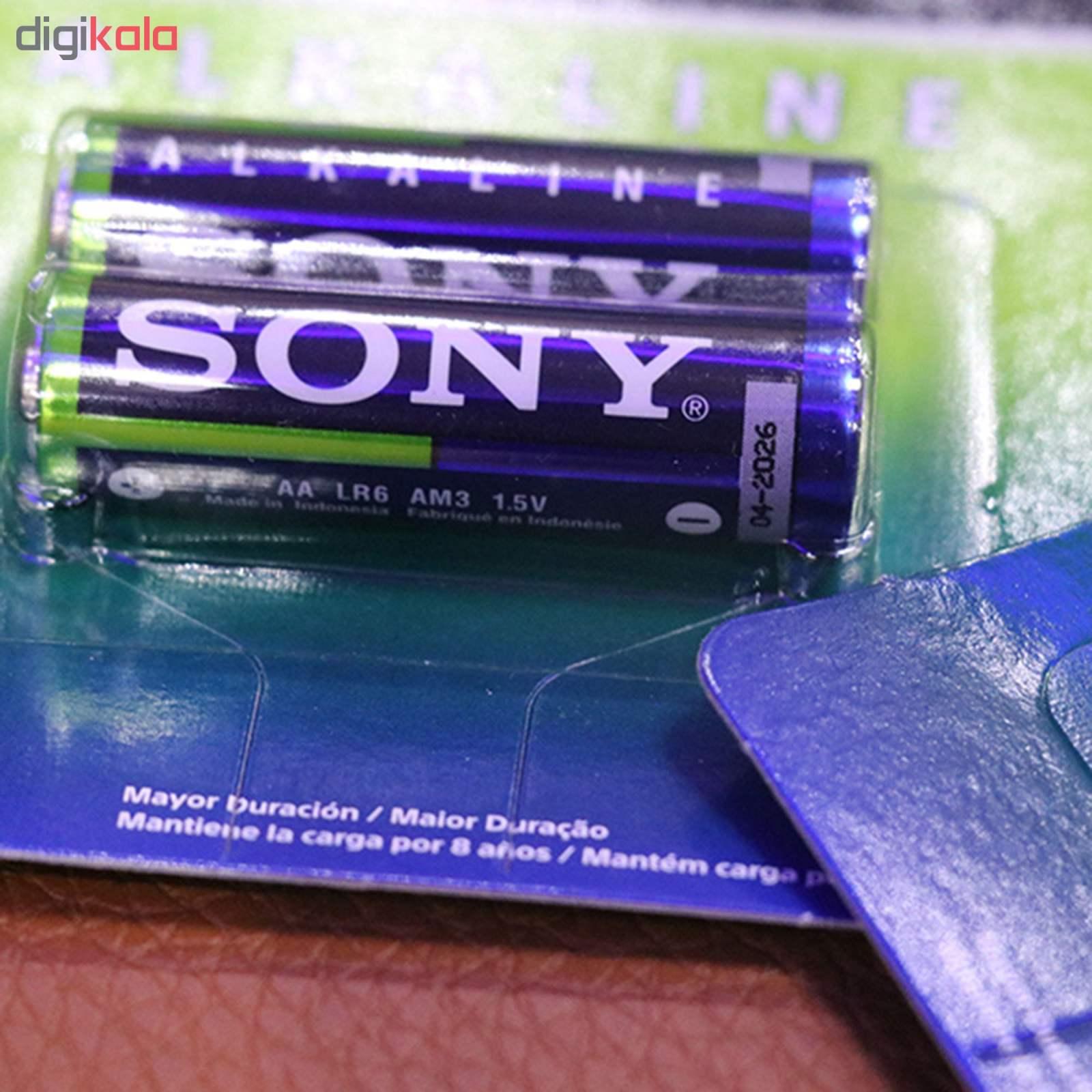 باتری قلمی سونی مدل Alkaline LR6 بسته 10 عددی main 1 2