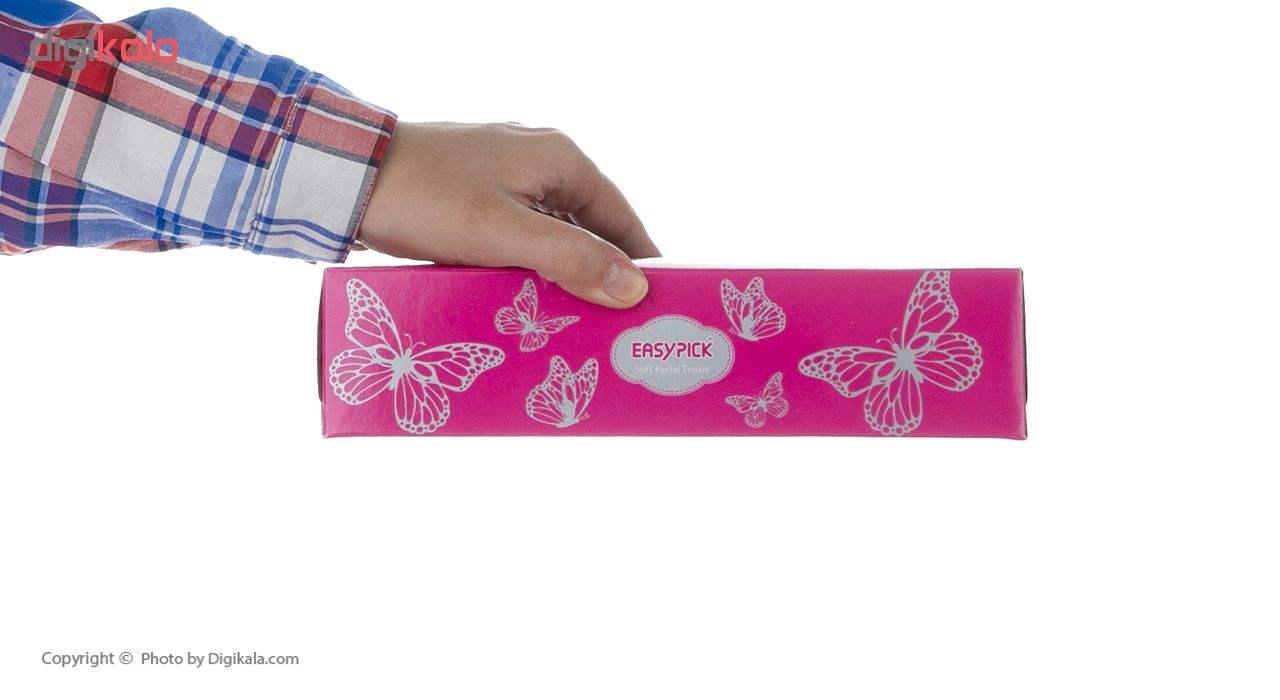 دستمال کاغذی 100 برگ ایزی پیک مدل Butterfly بسته 4 عددی main 1 4