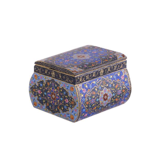 جعبه جواهرات استخوانی طرح کاشی