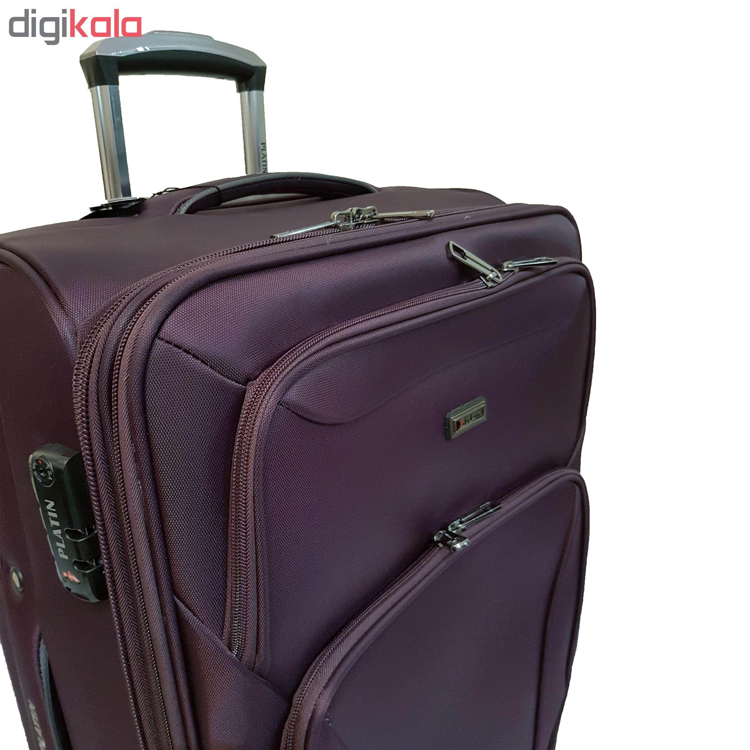 مجموعه سه عددی چمدان پلاتین کد 001