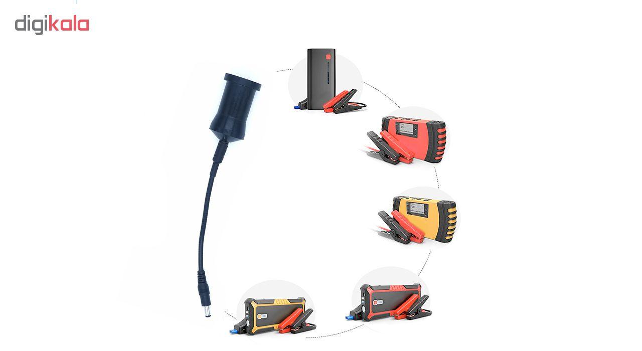 کابل تبدیل فندکی خودرو مدل IN-001 مناسب برای جامپ استارتر