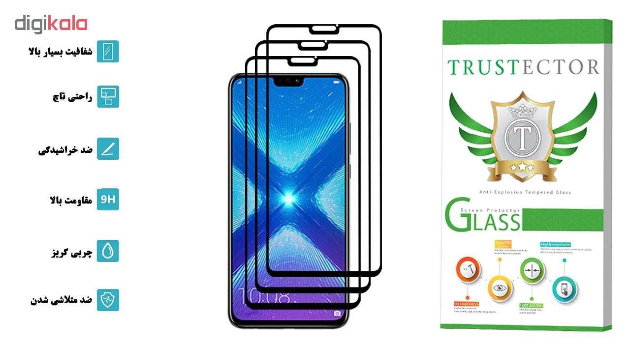 محافظ صفحه نمایش تراستکتور مدل GSS مناسب برای گوشی موبایل آنر 8X بسته 3 عددی main 1 2