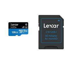 کارت حافظه microSDXC لکسار مدل V30 A1 کلاس 10 استاندارد  UHS-I U3 سرعت 95MBps ظرفیت 128گیگابایت به همراه آداپتور SD