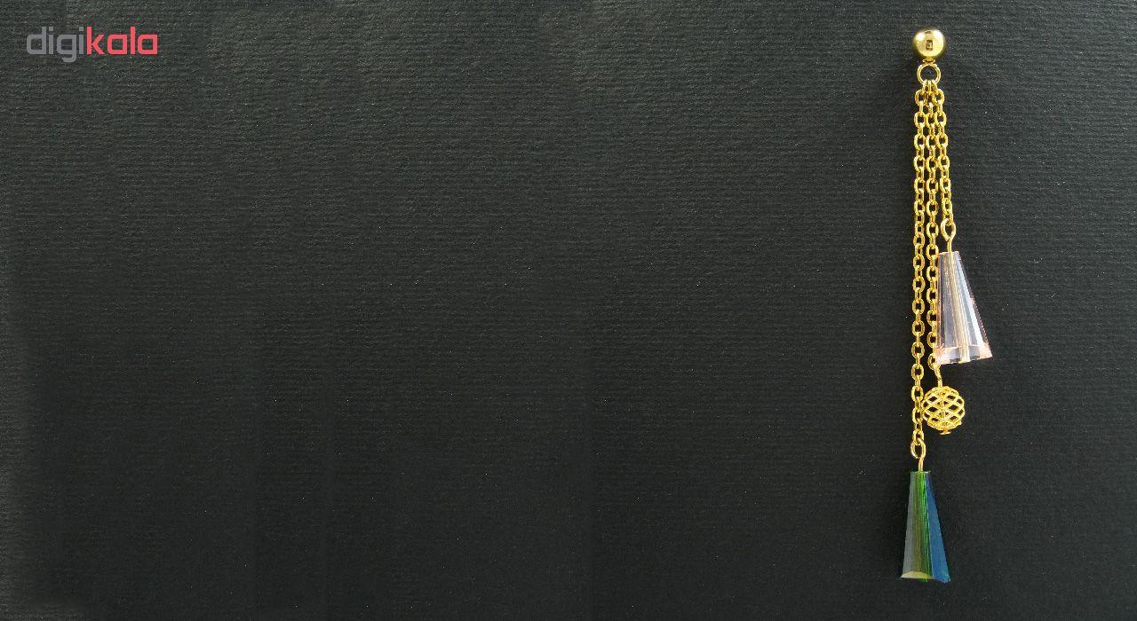 گوشواره طلا 18 عیار زنانه مانچو مدل efg005