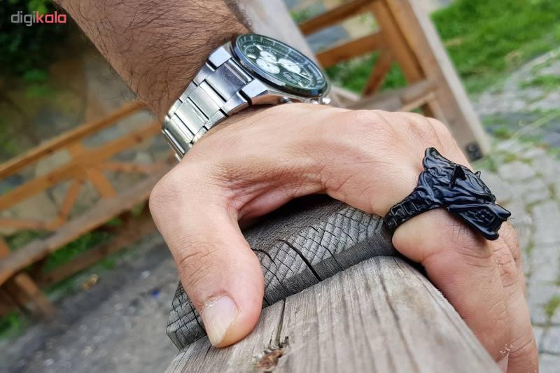 انگشتر مردانه طرح گرگ مدل a23m