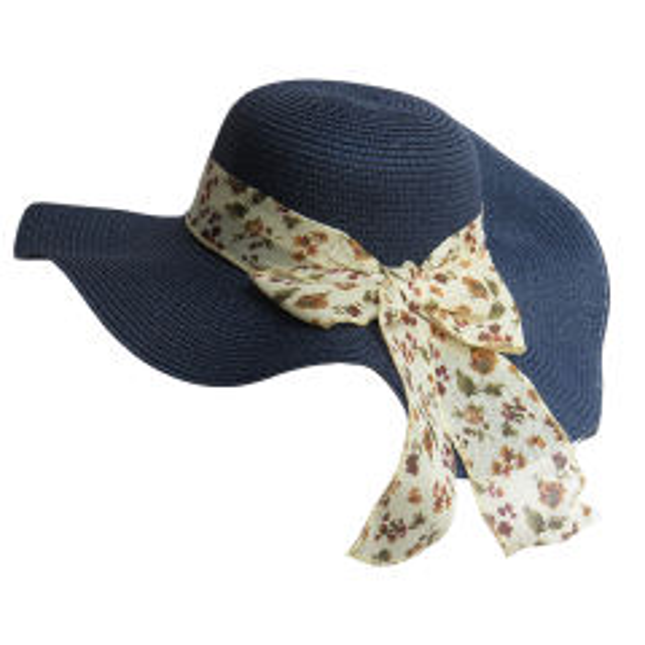 کلاه زنانه آفتابی مدل SUN-001 رنگ سرمه ای